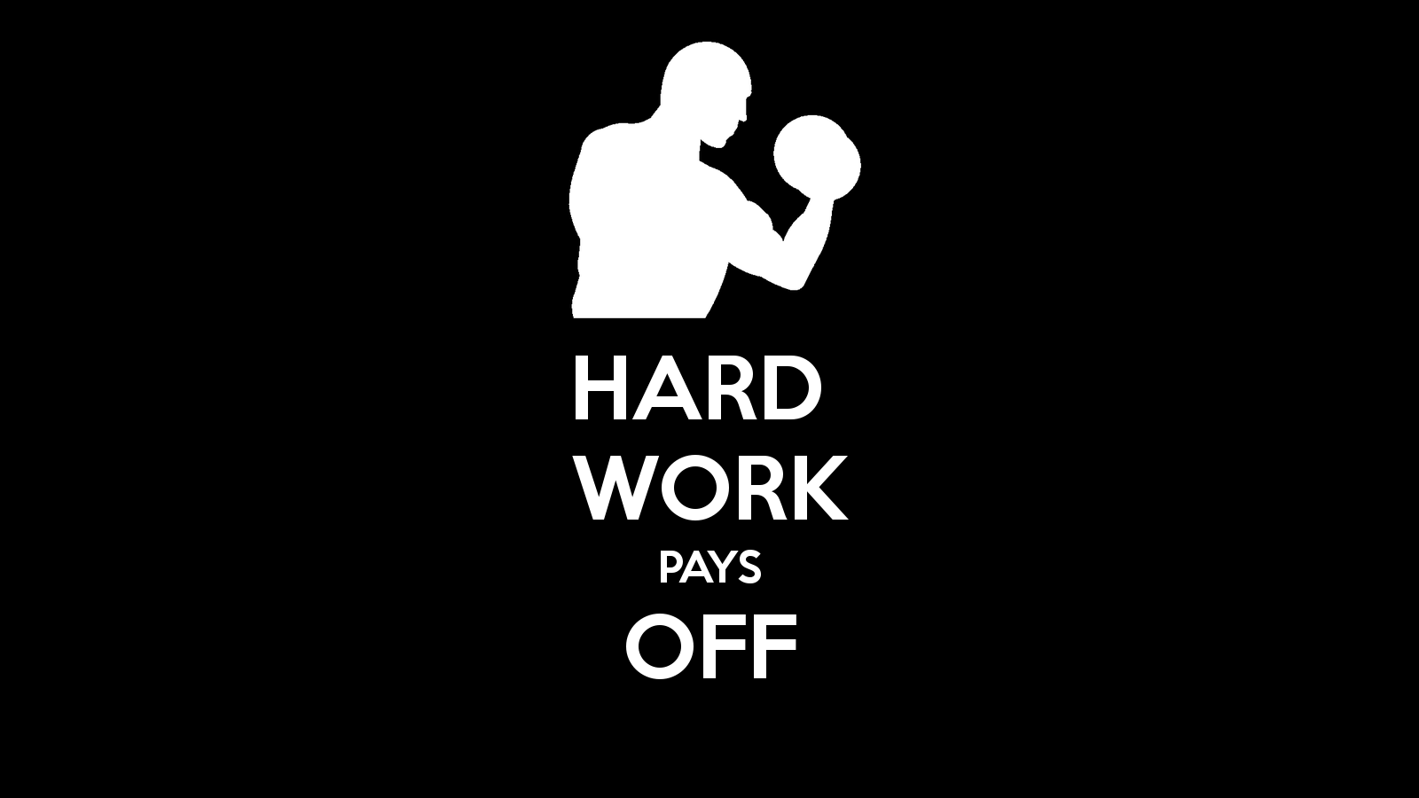 Work Hard Motivational Mobile Wallpaper Quote